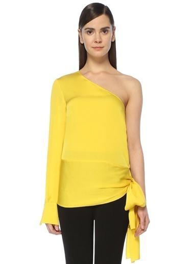 Stella Mccartney Tek Omuz Yandan Bağlamalı Bluz Sarı